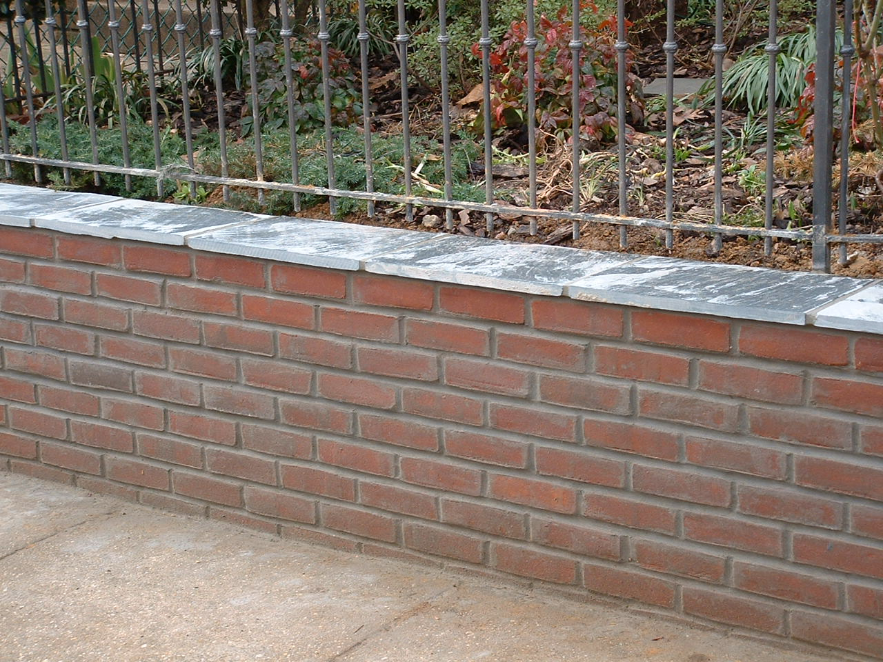 old-brick-retaining-wall