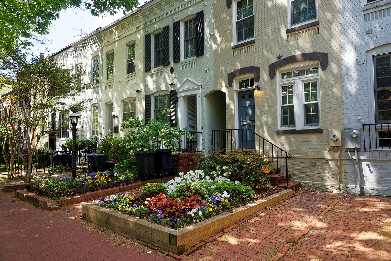 raised-flower-beds-curb-appeal-small-historic-homes-renaissance-development-dc